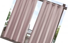 Indoor/outdoor Solid Cabana Grommet Top Curtain Panel Pairs