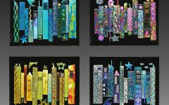Fused Dichroic Glass Wall Art