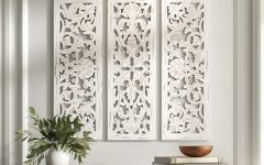 3 Piece Carved Ornate Wall Décor Set