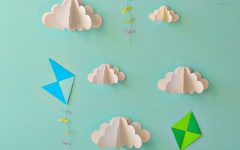 3D Clouds Out Of Paper Wall Art