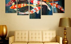 Koi Canvas Wall Art