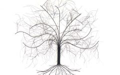 Windy Oak Tree Metal Wall Art