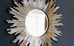 Large Sunburst Wall Mirrors