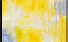 Large Yellow Wall Art