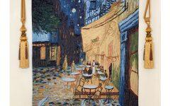 Blended Fabric Van Gogh Terrace Wall Hangings