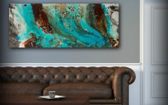 Teal And Brown Wall Art