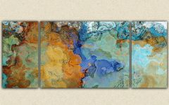 Orange And Blue Wall Art