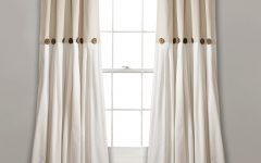 Linen Button Window Curtains Single Panel