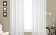 Luxury Collection Cranston Sheer Curtain Panel Pairs
