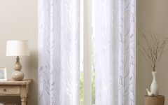 Vina Sheer Bird Single Curtain Panels