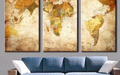 Maps Canvas Wall Art