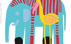 Marimekko 'karkuteilla' Fabric Wall Art
