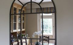 Metal Arch Window Wall Mirrors