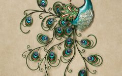 Metal Peacock Wall Art