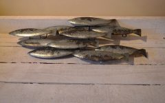 Metal School of Fish Wall Art