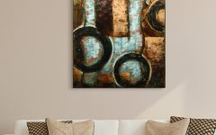 Mixed Media Iron Hand Painted Dimensional Wall Decor
