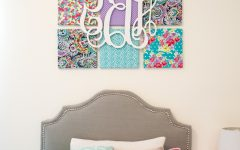 Canvas Wall Art with Fabric