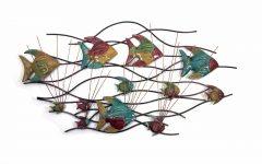 Abstract Metal Fish Wall Art