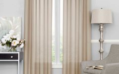 Light-Filtering Sheer Single Curtain Panels