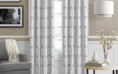 Kaiden Geometric Room Darkening Window Curtains