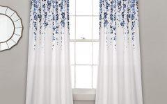 Weeping Flowers Room Darkening Curtain Panel Pairs