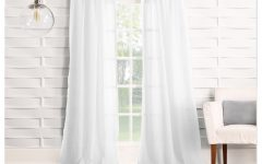 Ladonna Rod Pocket Solid Semi-sheer Window Curtain Panels