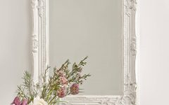 Distressed White Wall Mirrors