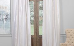 True Blackout Vintage Textured Faux Silk Curtain Panels