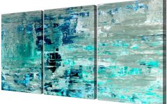 Wall Art Teal Colour