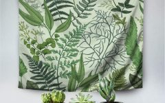 Blended Fabric Leaves Wall Hangings