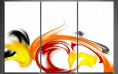 Red And Yellow Wall Art