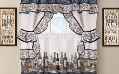 Chateau Wines Cottage Kitchen Curtain Tier And Valance Sets