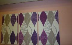 Purple Fabric Wall Art