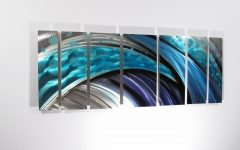 Teal Metal Wall Art