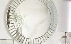 Round Beveled Wall Mirrors