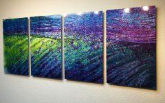 Abstract Metal Wall Art Panels