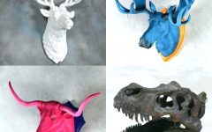 Resin Animal Heads Wall Art