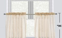 Semi-sheer Rod Pocket Kitchen Curtain Valance and Tiers Sets