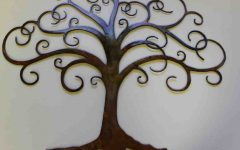 Contemporary Large Oak Tree Metal Wall Art