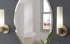 Oval Bathroom Wall Mirrors