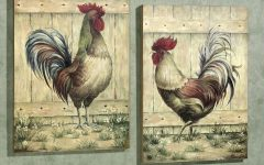 Metal Rooster Wall Art