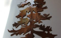 Pine Tree Metal Wall Art