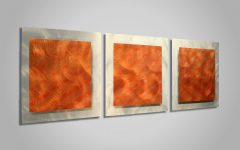 Abstract Orange Wall Art