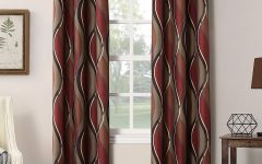 Intersect Grommet Woven Print Window Curtain Panels