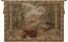 Blended Fabric Verdure Au Chateau Ii European Tapestries