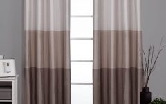Ocean Striped Window Curtain Panel Pairs with Grommet Top