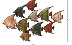 Coastal Metal Fish Wall Decor