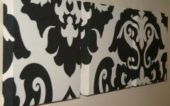 Black And White Damask Wall Art