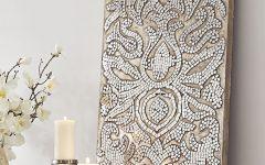 Damask Fabric Wall Art