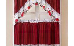 Faux Silk 3-Piece Kitchen Curtain Sets